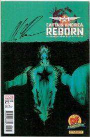 Captain America Reborn #1 Dynamic Forces Negative Variant Signed Alex Ross DF COA Marvel comic book